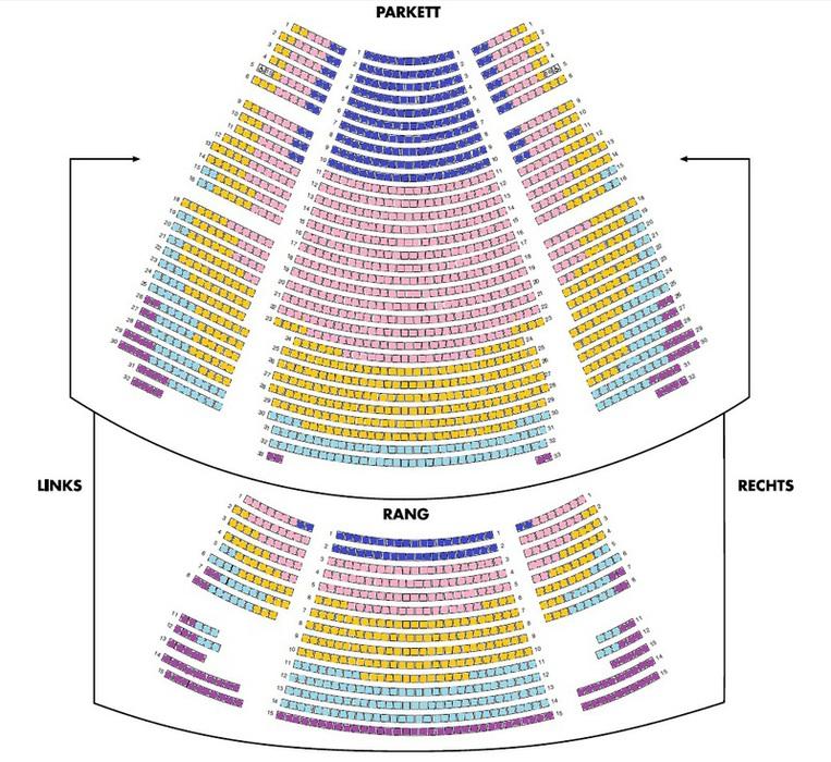 Löwen sitzplätze könig der Sitzplan, Saalplan
